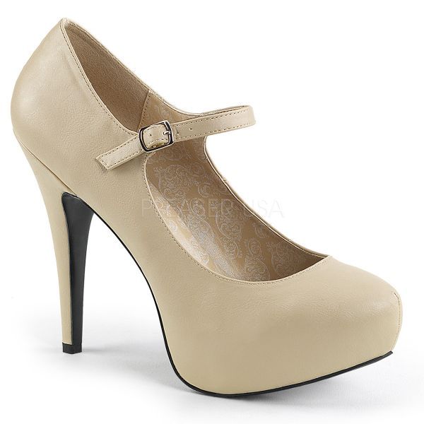 Elegante Mary Jane Plateau Pumps mit High-Heel-Absatz CHLOE-02